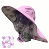 ADULT FLOPPY HAT WITH PALM PRINT - LILAC