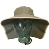 UV Protective Adult Floppy Hat in Olive with Khaki Trim from Sun Protection Zone