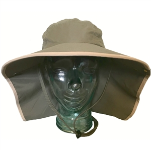 ADULT FLOPPY HAT - OLIVE/KHAKI TRIM