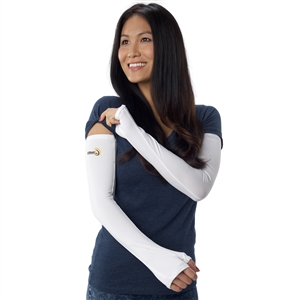 UV Protective Adult Gloved UV Sleevz in White from Sun Protection Zone
