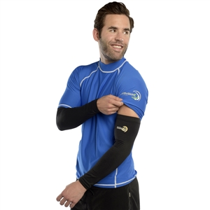 UV Protective Adult UV Sleevz in Black from Sun Protection Zone