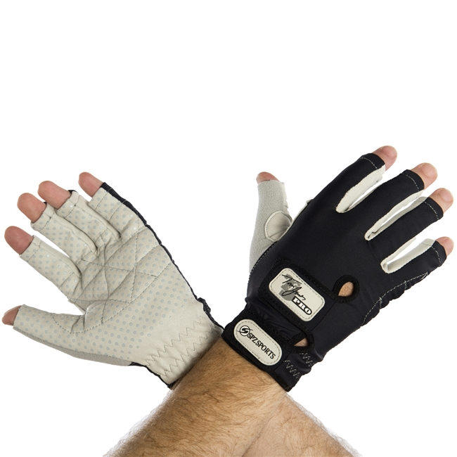 UV Protective Tom Jones PRO Sports Performance Gloves in Silver/Black from Sun Protection Zone
