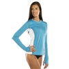 UV Protective Women's Long Sleeve Ultralite Shirt in Aqua Blue from Sun Protection Zone