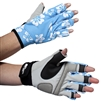 UV Protective Women's Sports Performance Gloves in Blue Hibiscus from Sun Protection Zone