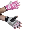 UV Protective Women's Sports Performance Gloves in Pink Hibiscus from Sun Protection Zone