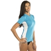 UV Protective Women's Short Sleeve Ultralite Shirt in Aqua Blue from Sun Protection Zone