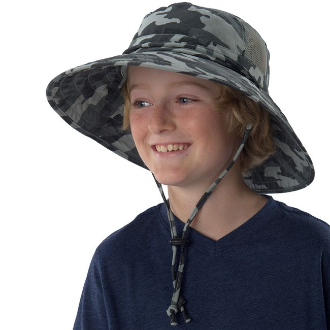 UV Protective Jr. Booney Hat in Basic Camo from Sun Protection Zone