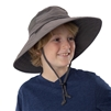 UV Protective Jr. Booney Hat in Charcoal from Sun Protection Zone