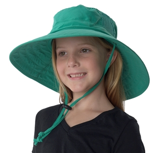 UV Protective Jr. Booney Hat in Emerald from Sun Protection Zone