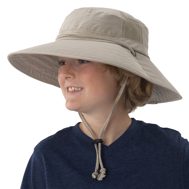 UV Protective Jr. Booney Hat in Khaki from Sun Protection Zone