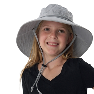 UV Protective Jr. Booney Hat in Light Grey from Sun Protection Zone