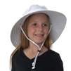 UV Protective Jr. Booney Hat in White from Sun Protection Zone