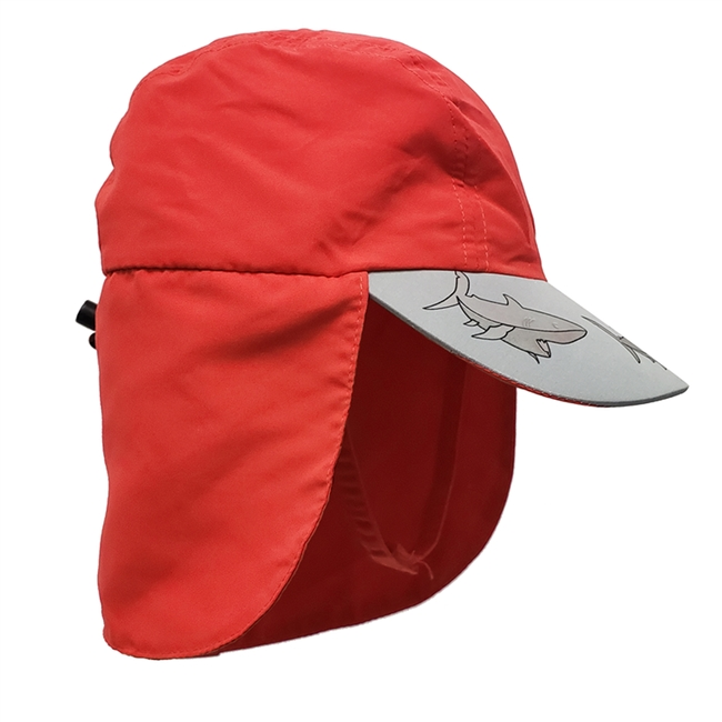 UV Protective Kid's UV Alert Legionnaire Hat in Red Shark from Sun Protection Zone