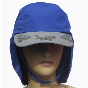 KID'S UV ALERT LEGIONNAIRE HAT - ROYAL SHARK