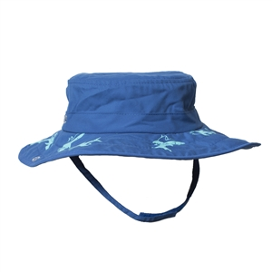 UV Protective Kid's Cowboy Safari Hat in Royal/Teal Shark from Sun Protection Zone