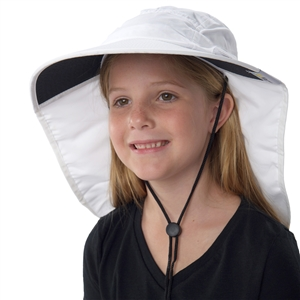 UV Protective Jr. Floppy Hat in White from Sun Protection Zone