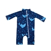 UV Protective Infant One-Piece Long Sleeve Suit in Sharks from Sun Protection Zone