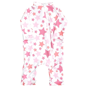 UV Protective Infant One-Piece Long Sleeve Suit in Stars from Sun Protection Zone