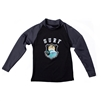 UV Protective Kid's Long Sleeve Rash Guard in Catching Wave from Sun Protection Zone