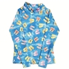 UV Protective Kid's Long Sleeve Rash Guard in Flip Flops from Sun Protection Zone