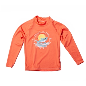 KID'S LONG SLEEVE RASH GUARD - HELLO WAVE