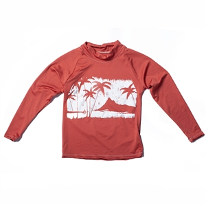 KID'S LONG SLEEVE RASH GUARD - PALM PARADISE