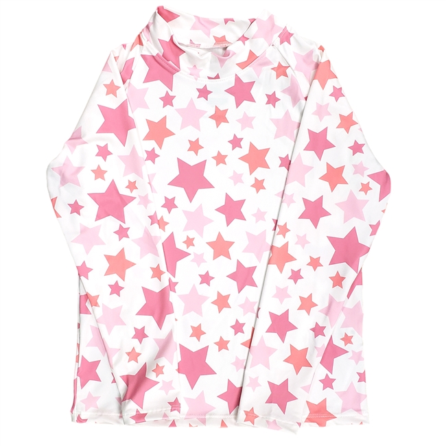 UV Protective Kid's Long Sleeve Rash Guard in Stars from Sun Protection Zone