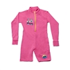 UV Protective Kid's One-Piece Long Sleeve Suit in Pink Sunglasses from Sun Protection Zone