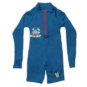 UV Protective Kid's One-Piece Long Sleeve Suit in Retro VW from Sun Protection Zone