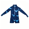 UV Protective Kid's One-Piece Long Sleeve Suit in Sharks from Sun Protection Zone
