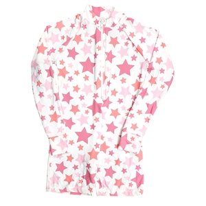 UV Protective Kid's One-Piece Long Sleeve Suit in Stars from Sun Protection Zone