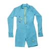 UV Protective Kid's One-Piece Long Sleeve Suit in Teal Jellyfish from Sun Protection Zone