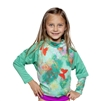 UV Protective Kid's +4 Rash Guard in Emerald Butterfly from Sun Protection Zone