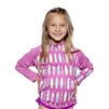 UV Protective Kid's +4 Rash Guard in Fuchsia Surfboard from Sun Protection Zone