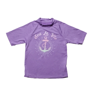 KID'S SHORT SLEEVE RASH GUARD - ANCHORS AWAY