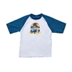 UV Protective Kid's Short Sleeve Rash Guard in Retro from Sun Protection Zone