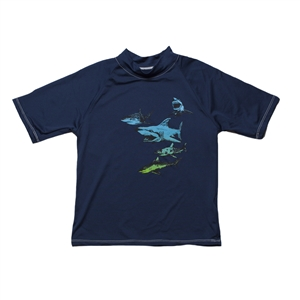 KID'S SHORT SLEEVE RASH GUARD - SHARK TANK