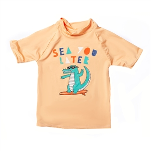 KID'S SHORT SLEEVE RASH GUARD - SEE U LATER