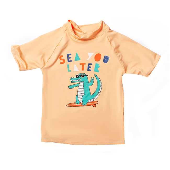 UV Protective Kid's Short Sleeve Rash Guard in See U Later from Sun Protection Zone