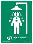 Haws SP177 Universal emergency shower sign