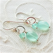 Chalcedony Gemstone Earrings, Drop Earrings, Aqua Chalcedony, Earrings, Sterling Silver, Jewelry, Chalcedony Earrings, Aqua, Gemstone Jewelry, Aqua Chalcedony Jewelry, Blue Bride Earrings, Aqua Wedding Jewelry, Stoneray Studio