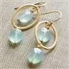 Blue Chalcedony Earrings, 14kt Gold Filled