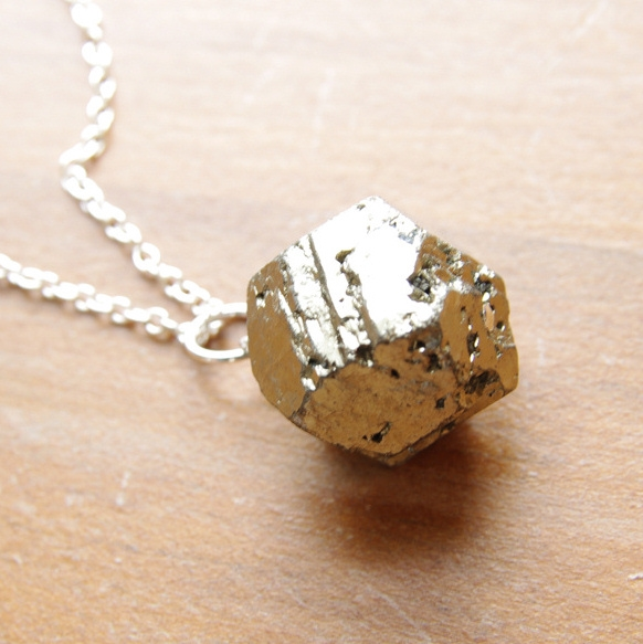 Pyrite necklace pyrite pendant natural pyrite jewelry sterling alternative views aloadofball Choice Image