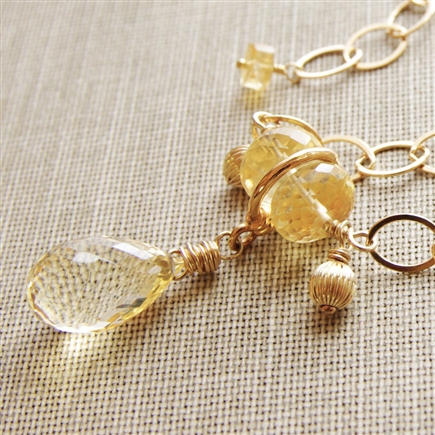 Citrine Necklace, Pendant Necklace, Natural Citrine, Necklace, Gemstone Jewelry, 14kt Gold Filled, Citrine, Jewelry, November Birthday, Birthstone Jewelry, Stoneray Studio