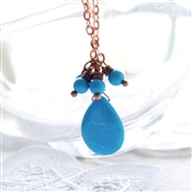Sleeping Beauty Turquoise Necklace, Copper Chain
