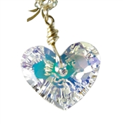 Swarovski Crystal Heart Necklace 14kt Gold Filled