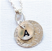 Initial Necklace, Personalized, Letter Pendant, Sterling Silver, Monogram Jewelry
