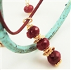 WILDBERRY Necklace, Simple Ruby Red Gold July Birthstone, Artisan Handmade