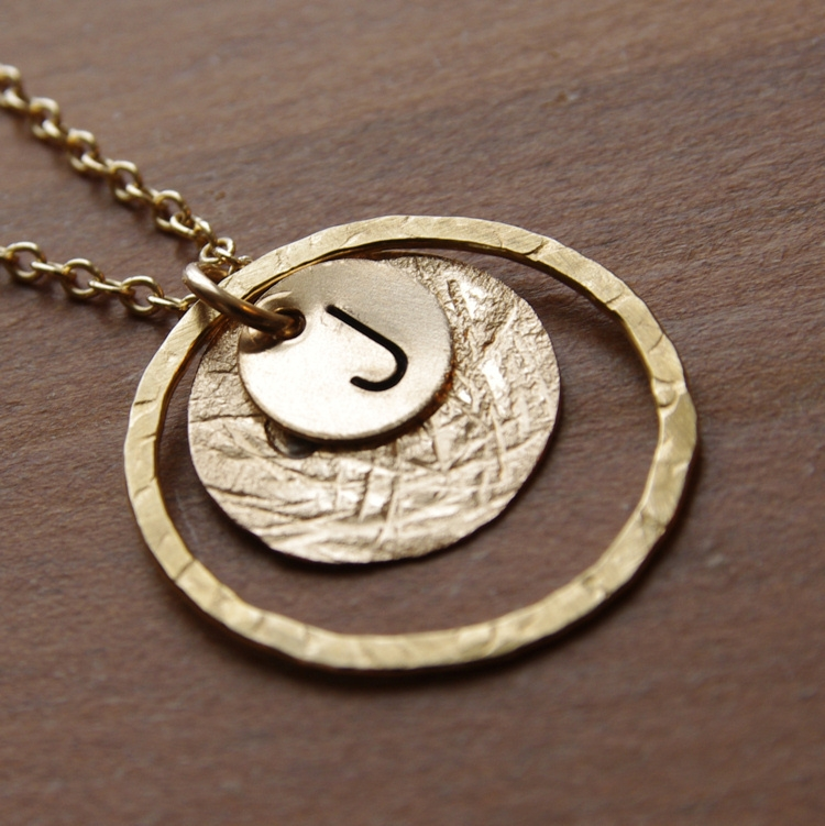 Initial necklace mom jewelry monogram necklace personalized gold initial necklace mom jewelry monogram necklace personalized mothers jewelry 14kt gold filled circle necklace hammered jewelry pendant mozeypictures Image collections