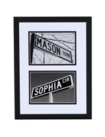 Double Photo Framed Street Signs